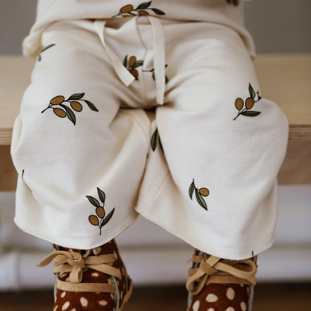 Spodnie Olive Garden Wide Leg Trousers Oat ORGANIC ZOO