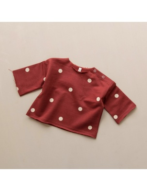 Bluzka Dots Layer Burgundy Sweatshirt ORGANIC ZOO