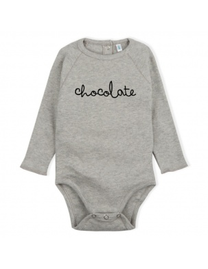 Body Grey CHOCOLATE Bodysuit ORGANIC ZOO