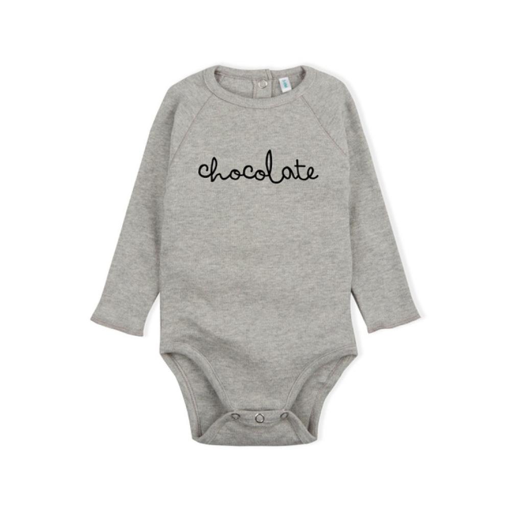 Body Grey CHOCOLATE Bodysuit ORGANIC ZOO