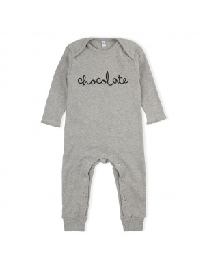 Rampers Grey CHOCOLATE Playsuit ORGANIC ZOO