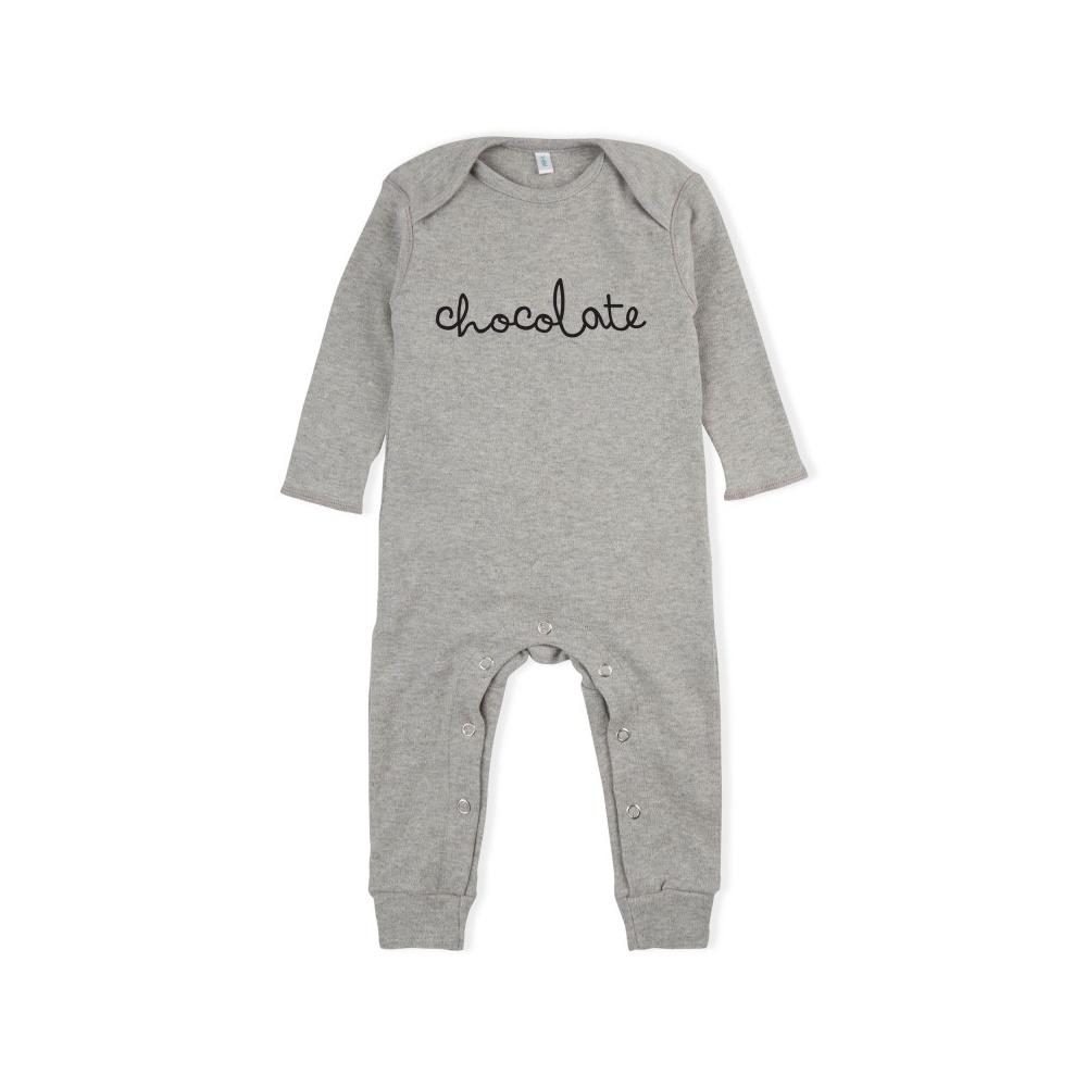 Rampers Grey CHOCOLATE Playsuit ORGANIC ZOO