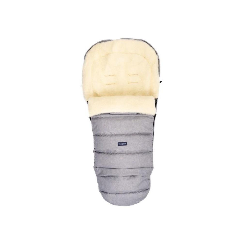 Śpiwór do wózka S20+ iGROW Wool Melanż Jasnoszary ZAFFIRO