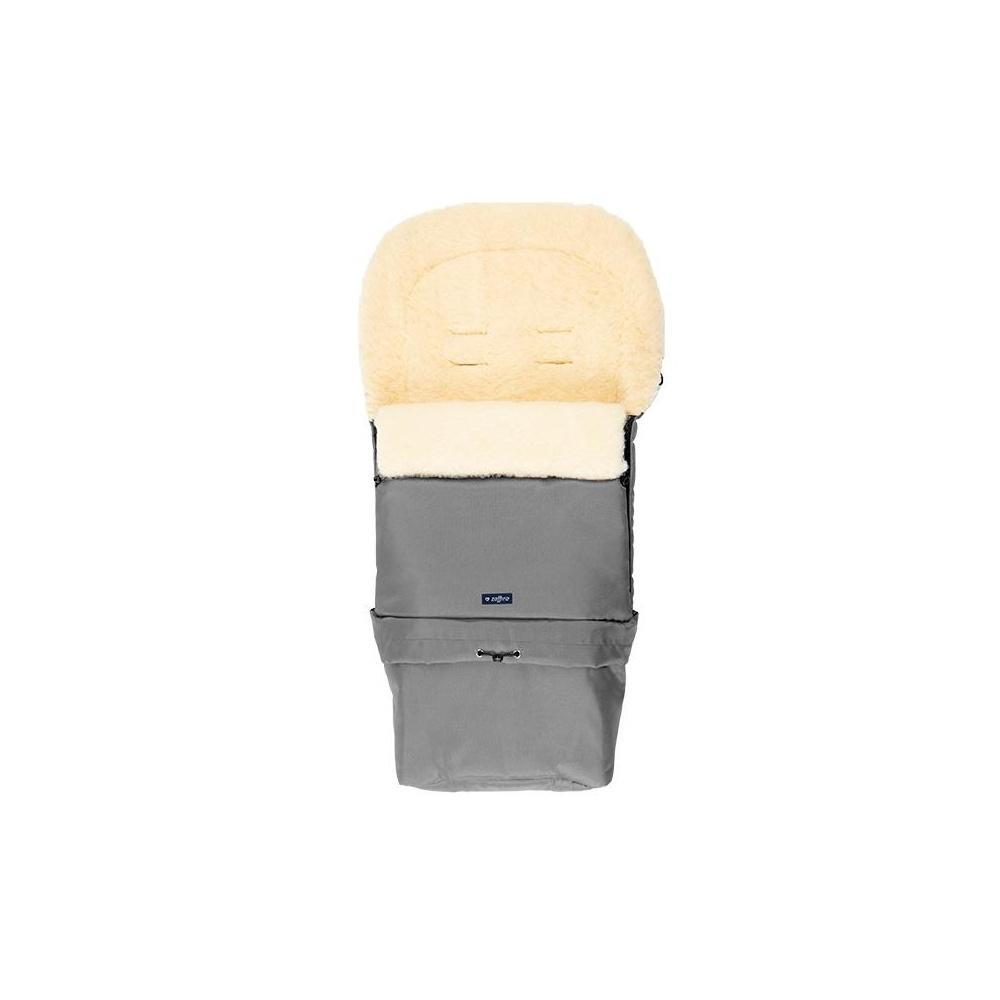 Śpiwór do wózka, spacerówki, fotelika SLEEP&GROW Wool Szary ZAFFIRO