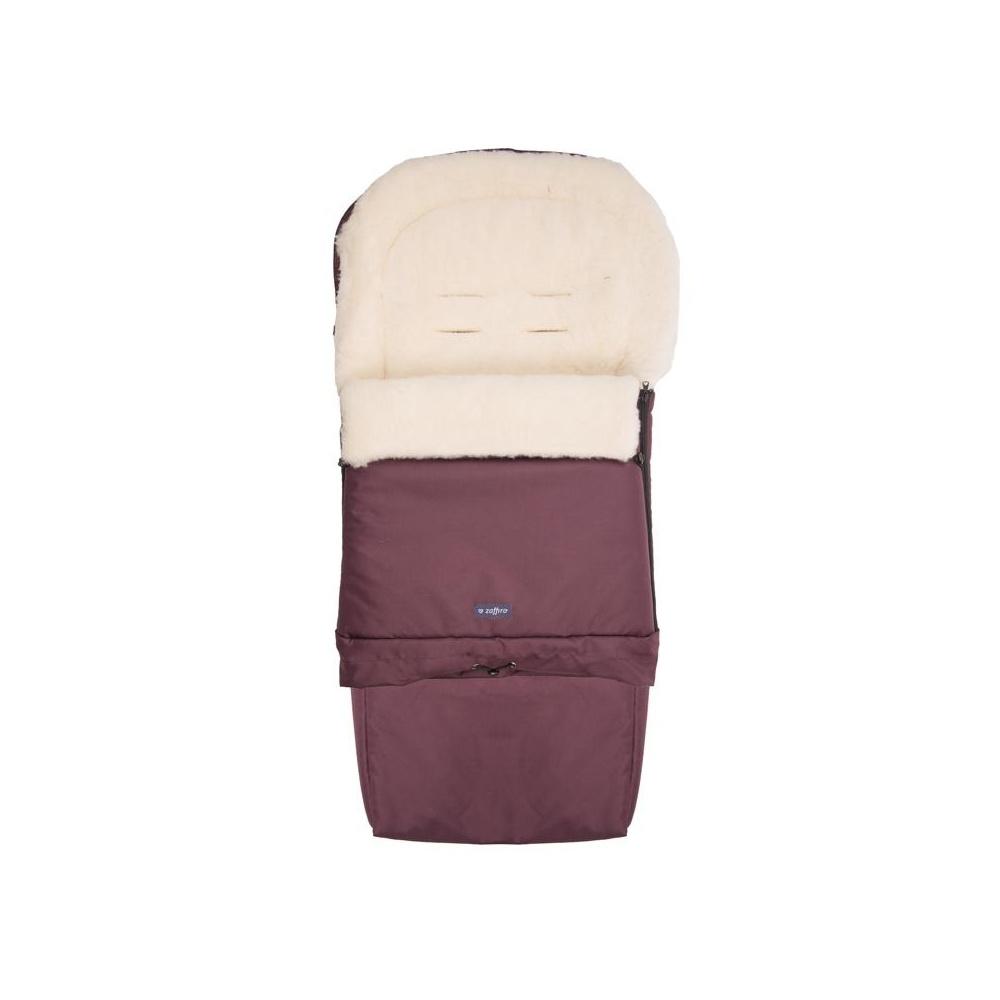 Śpiwór do wózka, spacerówki, fotelika SLEEP&GROW Wool Bordowy ZAFFIRO