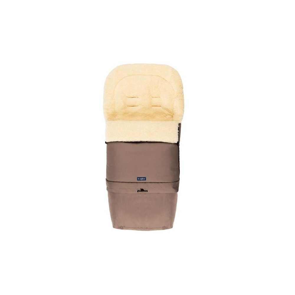 Śpiwór do wózka, spacerówki, fotelika SLEEP&GROW Wool Ciemny Beż ZAFFIRO