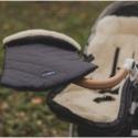 Śpiwór do wózka, spacerówki, fotelika LAMBETTE Exclusive Czarny ZAFFIRO