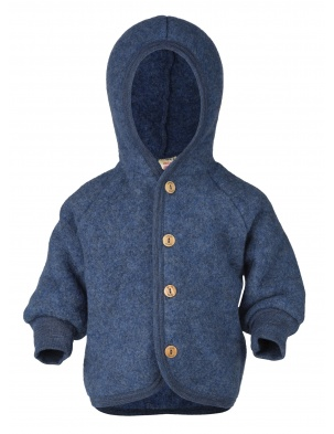 Bluza/kurtka z wełny merino blue melange Engel