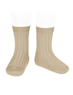 Skarpetki BASIC WIDE RIB SHORT SOCKS NOUGAT Condor