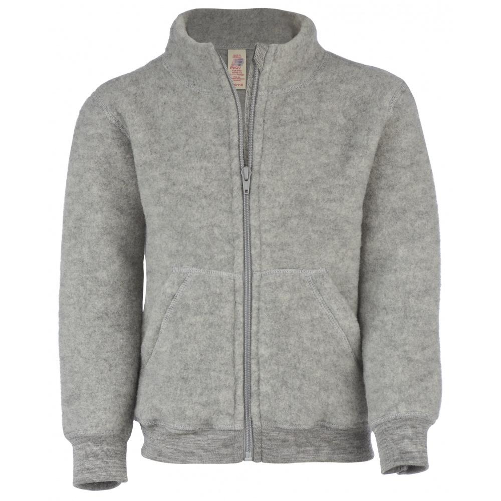 Bluza/kurtka z wełny merino grey melange Engel Natur