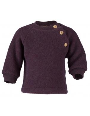 Sweterek z wełny merino lila melange Engel