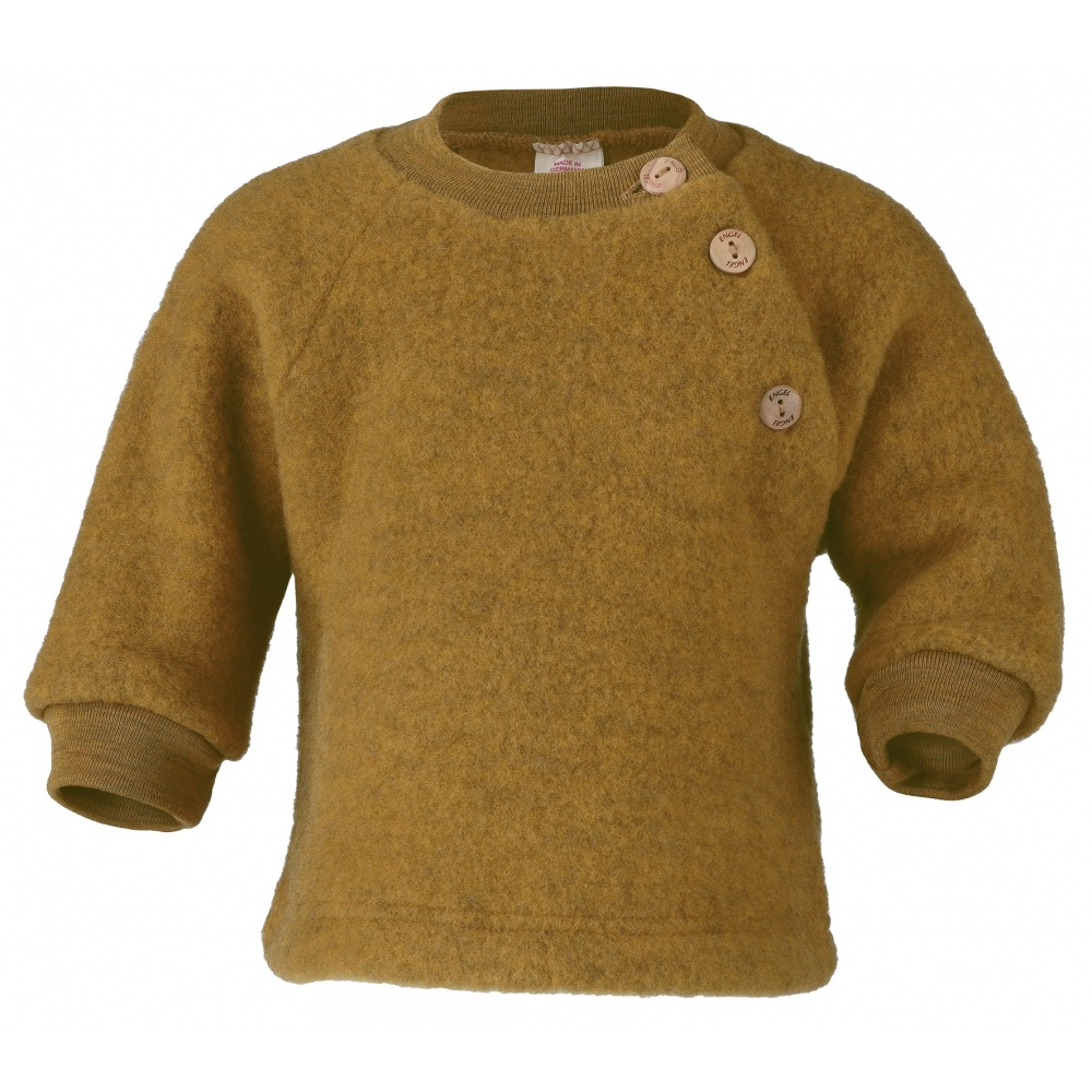Sweterek z wełny merino safran melange Engel