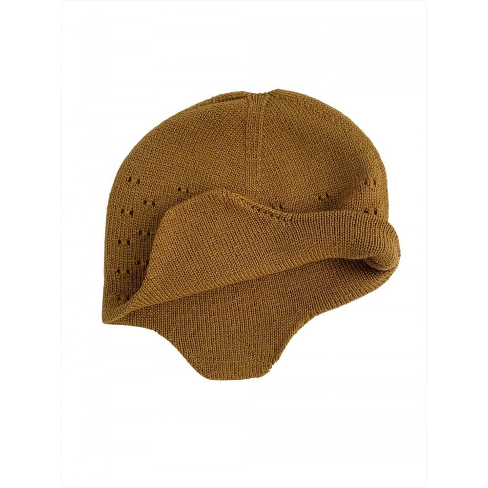 Czapka z wełny merino Hat Dua MUSTARD Hvid