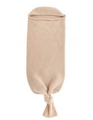 Kocyk kokon z wełny merino Cocoon Sand Hvid