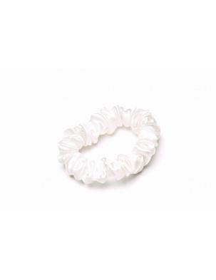 Gumka do włosów 100% jedwab - biała EASY LIVIN