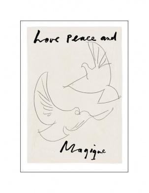 Kartka okolicznościowa Love Peace and Magique HOTEL MAGIQUE